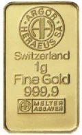 Gold in small denominations - Argor Heraeus bar