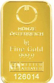 Gold in small denominations - Austrian mint bar