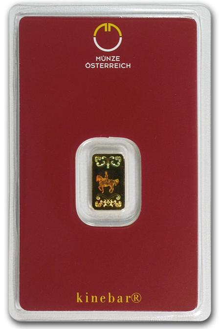 Austrian mint 1 gram gold bar