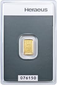 Gold in small denominations - Heraeus