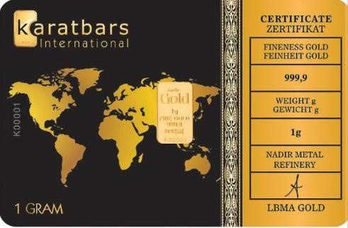 Gold in small denominations - Karatbars