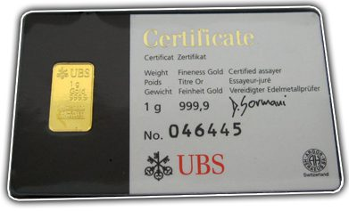 Gold in small denominations - UBS