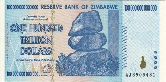 What is fiat currency. Shortly said, not real. Zimbabwe dollar.