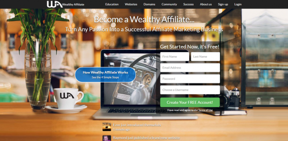 What is Wealthy Affiliate University - main page
