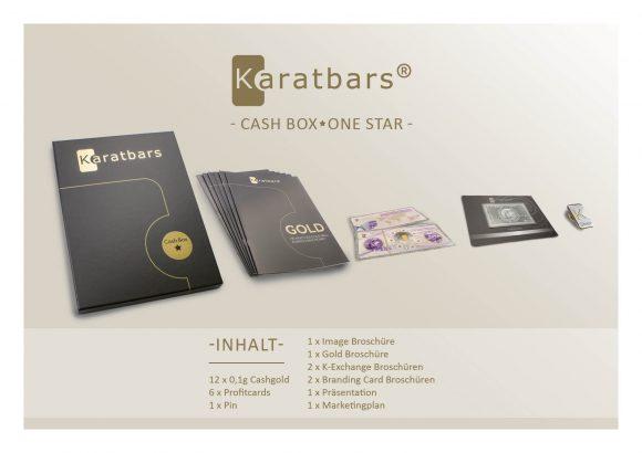 Karatbars cash gold - first in its kind - cash box