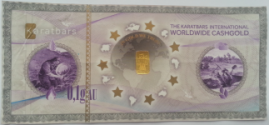 Karatbars cash gold - first in its kind - front of cash gold note