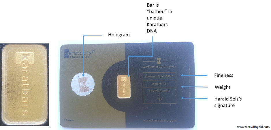 Karatbars gold card – a detailed look at its features - back
