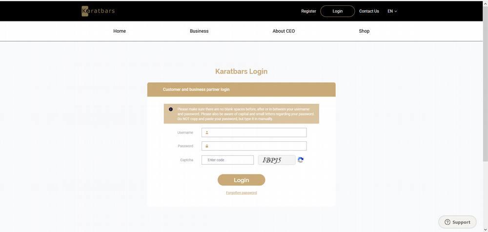 Karatbars back office login and Karatbars contact details