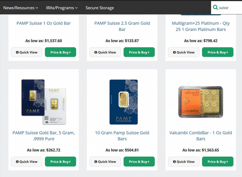 How and where to buy 24K gold bars online safely_PAMP