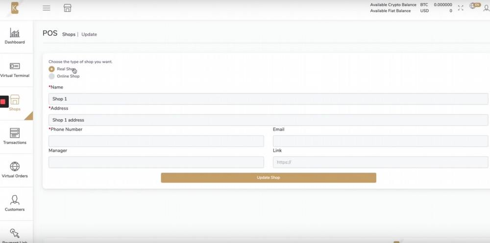 How to use K-Merchant backoffice: How to add a shop and POS device
