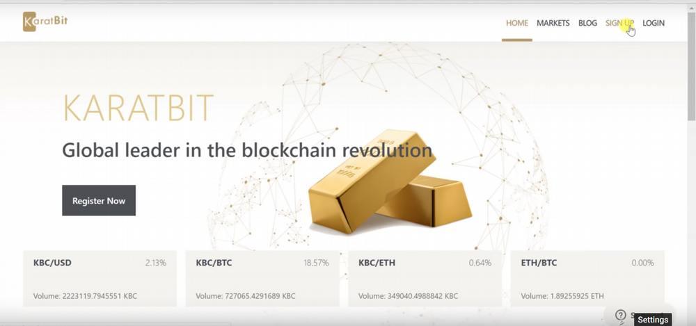 KaratBit exchange platform: KaratBit login and how to register