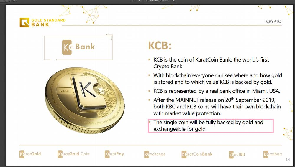 Karatbars Hard fork: KBC + KCB merge = Gold Standard Coin (official sources)
