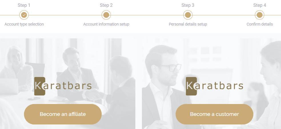 Open a free Karatbars account now