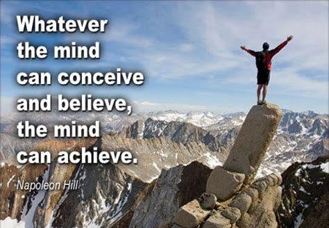 Conceive - believe - achieve