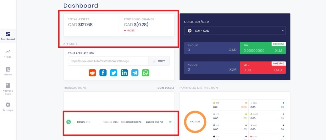 How to withdraw KBC coins from Karatbit and convert to cash_NDAX dashboard