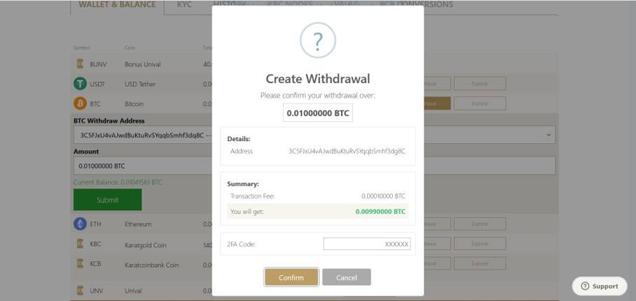 How to withdraw KBC coins from Karatbit and convert to cash_confirm withdrawal