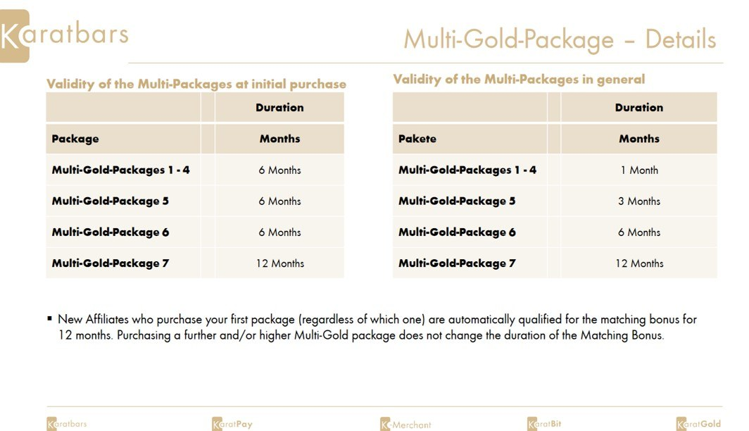 Multi package or Business package? New Karatbars affiliate