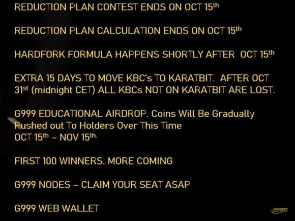 Oct 15 Karatbars news and updates